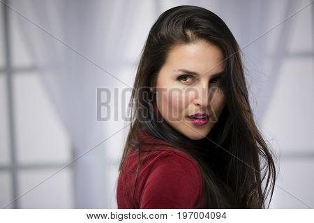 Seductive woman face