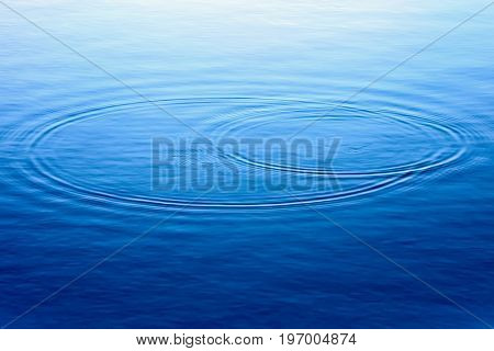 Water lake background. Ripples in water surface.
