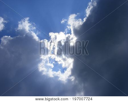 dramatic sky with clouds, background, skyscape, nature