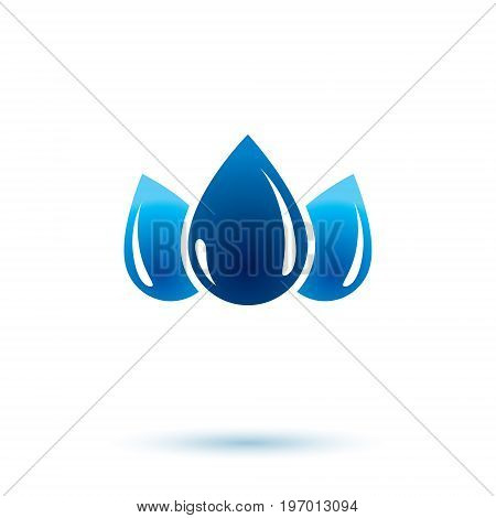 Sea wave splash vector symbol. Pure water as most important resource for human activity theme. Body cleansing concept.
