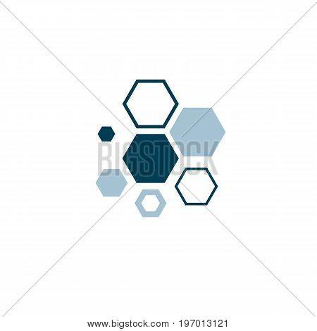 Vector model of molecule. Molecular genetics conceptual illustration isolated on white.