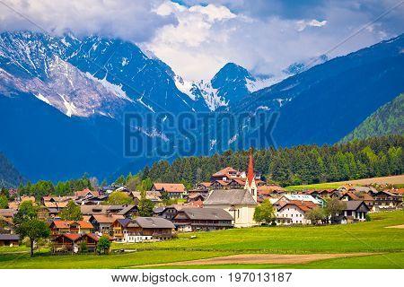Niederrasen Village In Pusteral Valley View