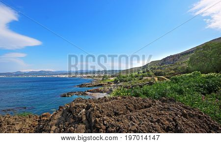 Beautiful view of the island of Crete, Greece