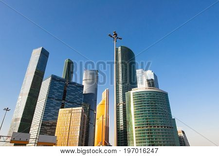 Moscow, Russia-April 30,2017: The Moscow International Business Centre (MIBC), or