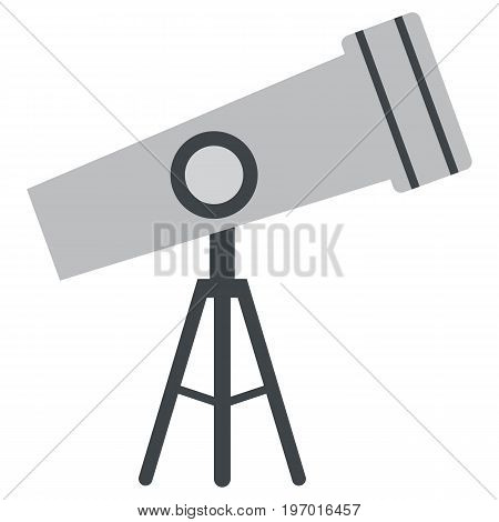 Telescope icon, vector illustration flat style design isolated on white. Colorful graphics