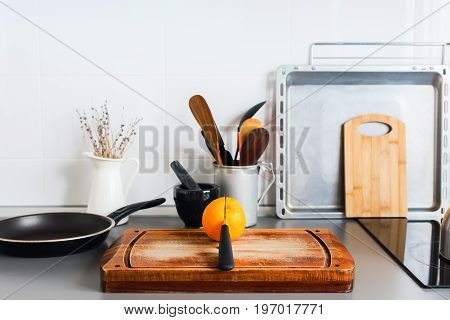 Kitchen Still Life Rustic Dishes Table Ware Orange