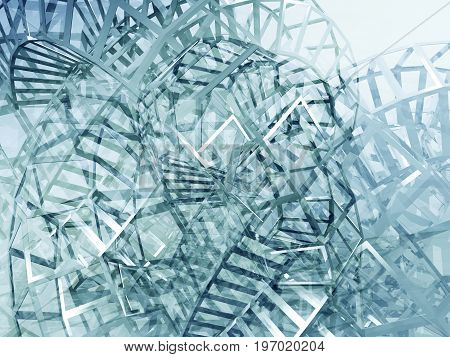 Abstract Blue Digital Graphic Background 3D Art