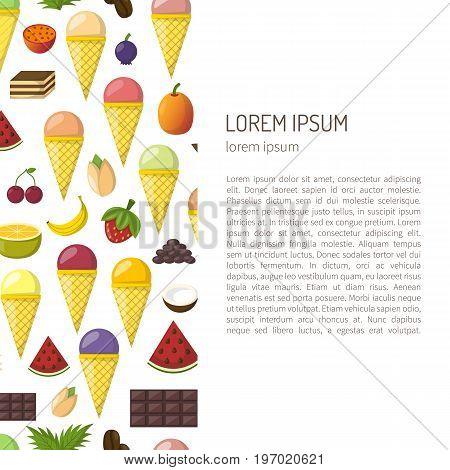 Vector Cartoon Ice Cream Background