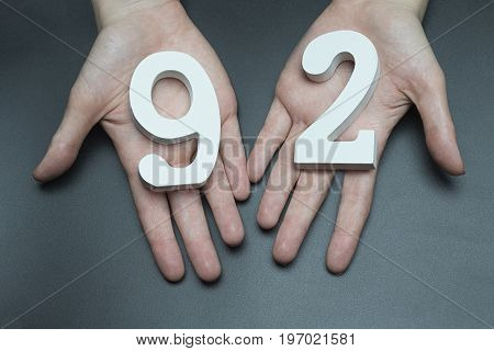 To Female Hands The Figure Of Ninety-two.