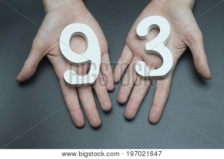 To Female Hands The Figure Of Ninety-three.