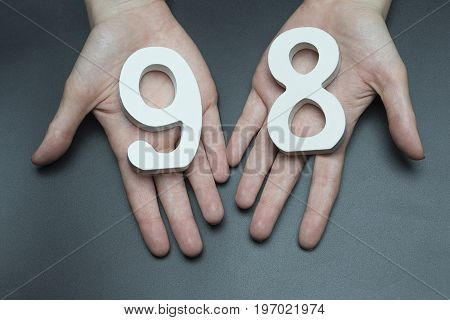 To Female Hands The Figure Of Ninety-eight.