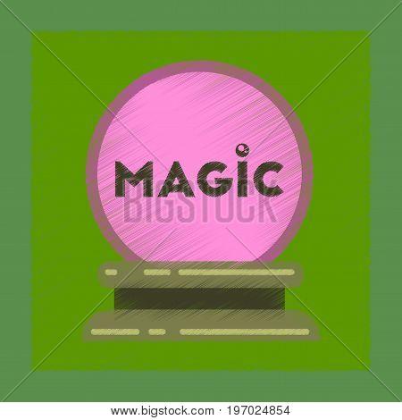 flat shading style icon of magic ball