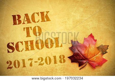 Back to school 2017 to 2018 sign