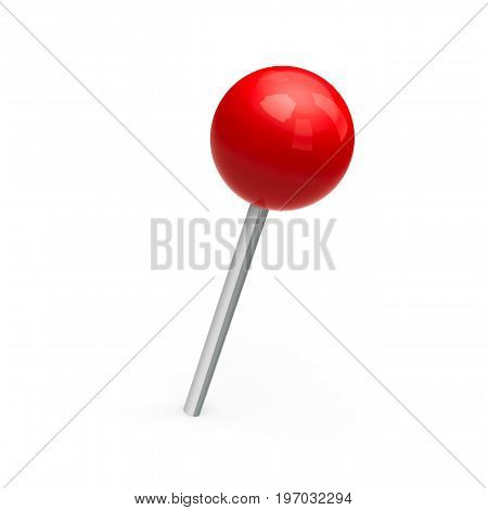 Red map marker isolated on white background three-dimensional rendering 3D illustration