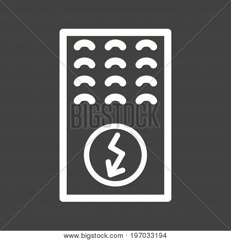 Boiler, electric, water icon vector image. Can also be used for Climatic Equipment. Suitable for mobile apps, web apps and print media.