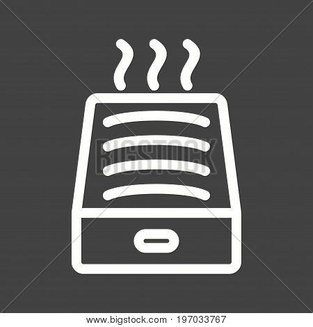 Steam, humidification, water icon vector image. Can also be used for Climatic Equipment. Suitable for use on web apps, mobile apps and print media.
