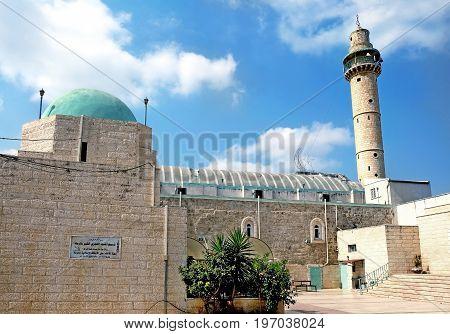 Mosque Al Amari in the city of Ramla Israel