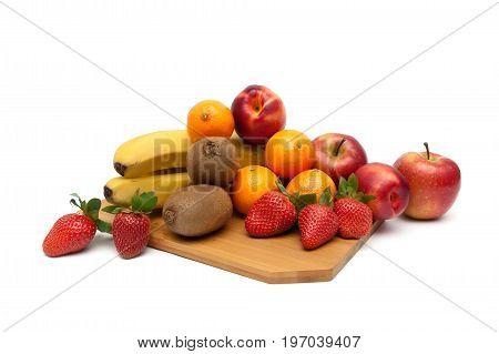 Juicy fruit isolated on white background. Horizontal photo.