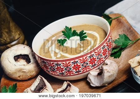 Refreshing Entree Dish With Creamy Mushroom Soup