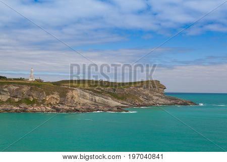 Cape Mayor lighthouse in Santander Cantabria Spain