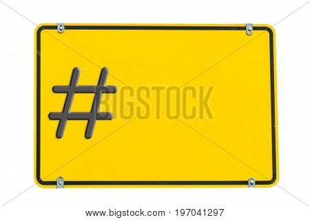 City limit sign against white background - Lettering #