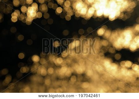 Bokeh effect on a seawater surface with waves
