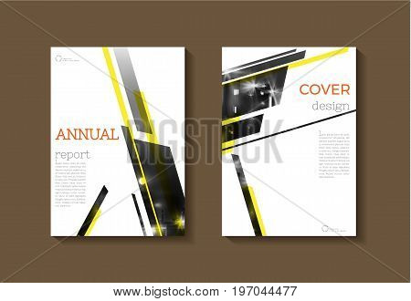 abstract Yellow modern cover book Brochure template design annual report magazine and flyer layout Vector a4