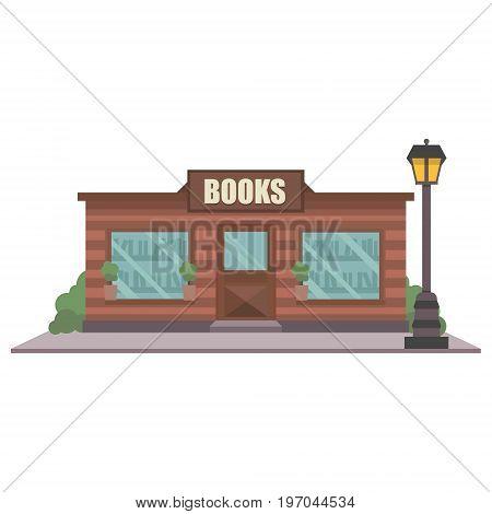 Bookstore Facade Vector