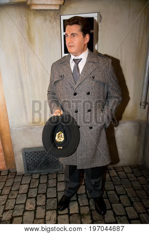 Prague, Czech republic, July 22, 2017: Tomas Bata in Grevin museum of the wax figures in Prague.