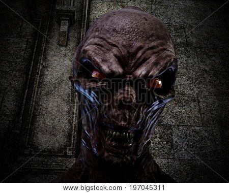 Digital 3D Illustration Of Creepy Ghoul