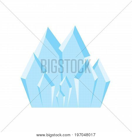 Blue ice crystals. Magic crystals. Crystals on isolated background. Vector stock.