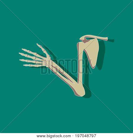 shoulder joint paper sticker on stylish background