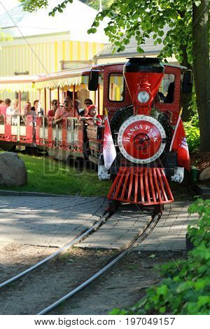 The Hansa Park, Germany - 05 June. Visiting the Hansa Park, the fifth largest German amusement park in Sierksdorf (Schleswig-Holstein) off the Baltic Sea on 05 June 2016