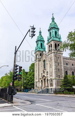 Montreal, Canada - May 26, 2017: Universal Church On Sainte Catherine Street In Sainte Marie Neighbo