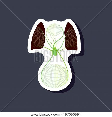 paper sticker on stylish background circulatory system