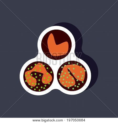 paper sticker on stylish background leukocyte medical