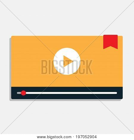 Modern interface video player template for web and mobile apps. Vector illustration
