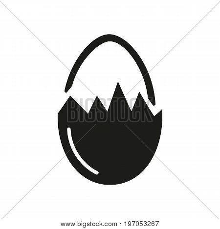 Icon of chicken egg. Protein, food, ingredient. Allergy concept. Can be used for topics like cuisine, gastronomy, Easter