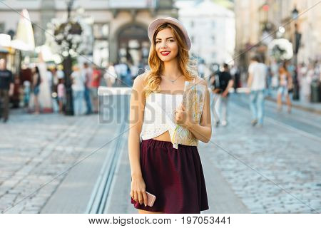 Girl On Sightseeing