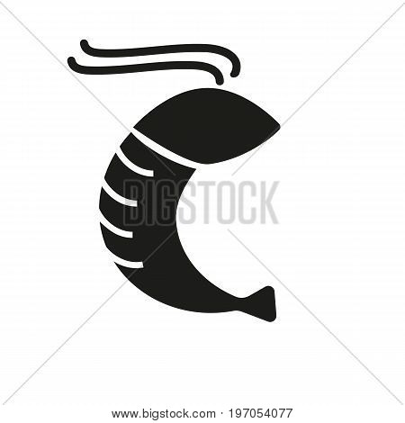 Icon of fresh crustacean. Shrimp, sealife, seafood. Allergy concept. Can be used for topics like cuisine, restaurant, gastronomy