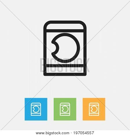 Vector Illustration Of Kin Symbol On Washing Machine Outline