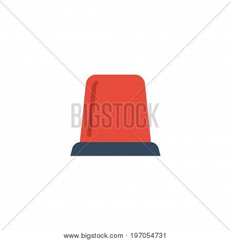 Flat Icon Flasher Siren Element. Vector Illustration Of Flat Icon Signal Isolated On Clean Background