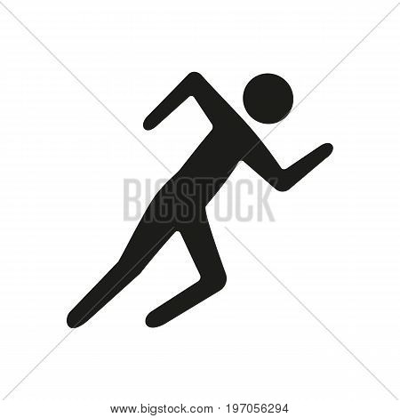 Icon of running arm. Jogging, competition, sprint. Sport concept. Can be used for topics like healthcare, marathon, contest