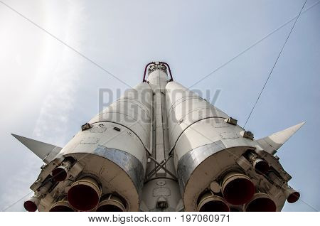 Moscow - May 5, 2017: The Bottom View At The Copt Of A Vostok Spacecraft