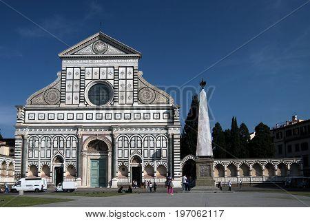 Facade Of Church Santa Maria Novella