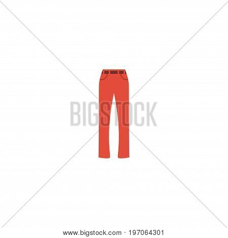Flat Icon Trousers Element. Vector Illustration Of Flat Icon Pants Isolated On Clean Background