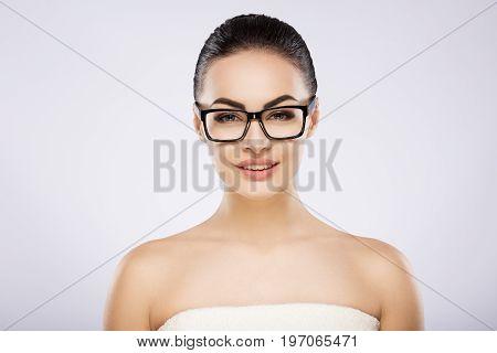 Gorgeous Girl At Studio Background