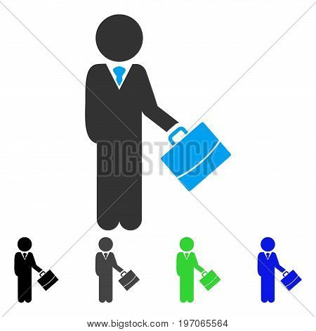 Child Manager flat vector pictogram. Colored child manager gray, black, blue, green icon variants. Flat icon style for application design.