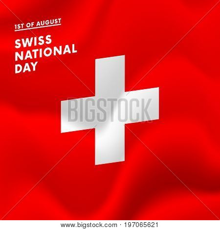 1st of August Swiss national day vector illustration