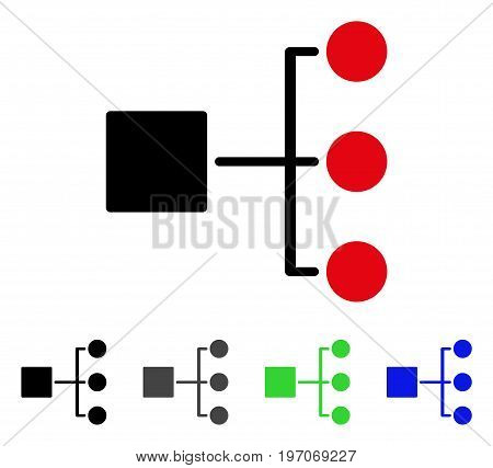 Structure Diagram flat vector pictograph. Colored structure diagram gray, black, blue, green pictogram versions. Flat icon style for application design.